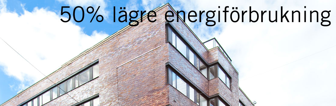 50% lägre energiförbrukning