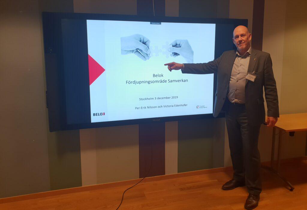 Per-Erik Nilson, koordinator Belok, inleder Samverkansworkshop