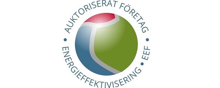 bilden visar logotypen för EEFs auktorisering av företag som arbetar med energieffektivisering